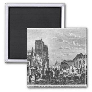Paris, demolition of a part of the Cite Magnet