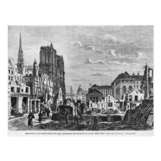 Paris, demolition of a part of the Cite Postcard