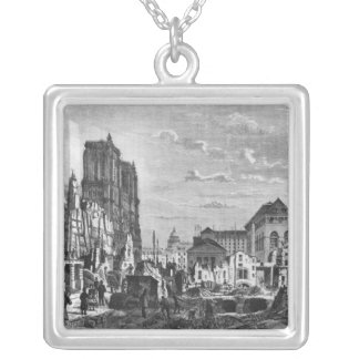 Paris, demolition of a part of the Cite Silver Plated Necklace