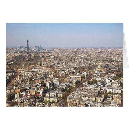 París desde arriba de VII Tarjeta De Felicitación