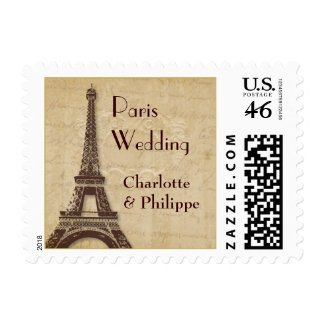 Paris Destination Wedding Postage