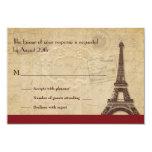 Paris Destination Wedding Response Invites