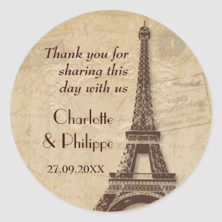 Paris Destination Wedding Stickers
