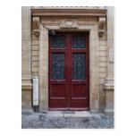 Paris Door Postcard Post Cards