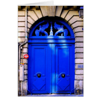 Paris Doorway Greeting Card