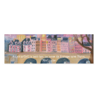 Paris ... Double-Sided mini business cards (Pack of 20)