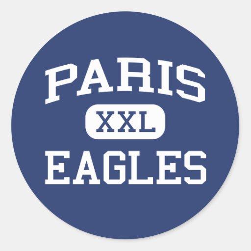 Paris Eagles Middle School Paris Arkansas Round Sticker