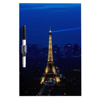 Paris Eifel Tower At Night Dry-Erase Board