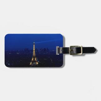 Paris Eifel Tower At Night Luggage Tag
