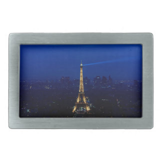 Paris Eifel Tower At Night Rectangular Belt Buckle