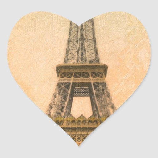 paris eiffel heart sticker