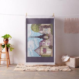 Paris Eiffel inspired landscape Zazzle fabric