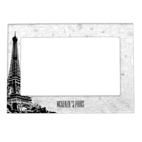 Paris Eiffel Tower Add Your Name Magnetic Photo Frame