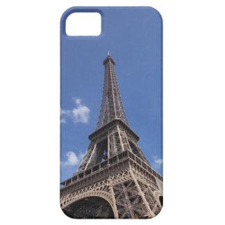 Paris Eiffel Tower against blue summer sky iPhone SE/5/5s Case