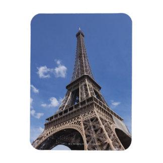 Paris Eiffel Tower against blue summer sky Magnet
