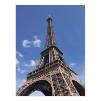 Paris Eiffel Tower against blue summer sky Postcard
