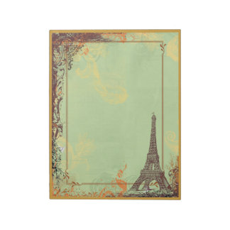 Paris Eiffel Tower and Scrolls Memo Notepads