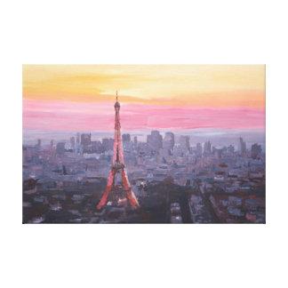 Paris Eiffel Tower at Dusk Canvas Prints