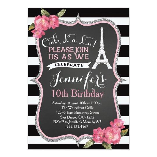 Paris eiffel tower birthday party invitation zazzle paris eiffel tower birthday party invitation filmwisefo