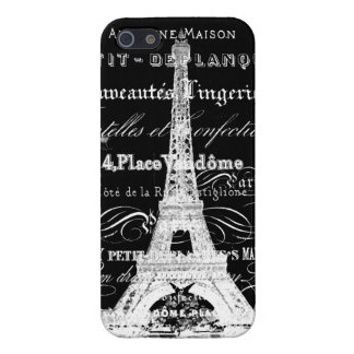 Paris Eiffel Tower Black Case For iPhone SE/5/5s
