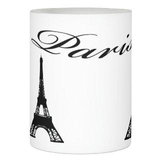 Paris Eiffel Tower Black White Flameless Candle