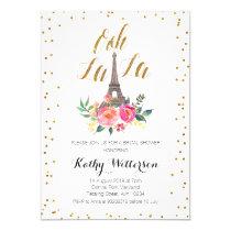 Paris Eiffel Tower Bridal Shower invitation
