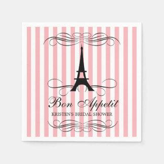 Paris Eiffel Tower | Bridal Shower Napkin