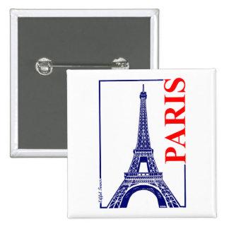 Paris-Eiffel Tower 2 Inch Square Button