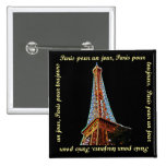 Paris Eiffel Tower Button