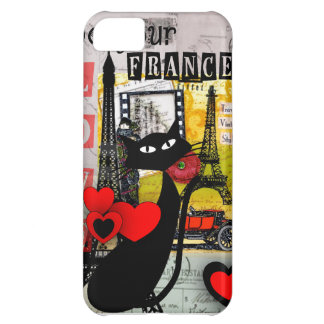 Paris Eiffel Tower Cat Lovers gifts iPhone 5C Cover