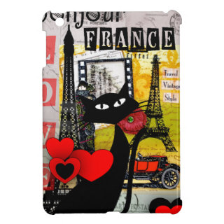 Paris Eiffel Tower Cat Lovers gifts iPad Mini Cover