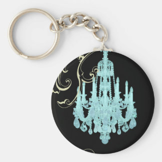 Paris Eiffel Tower Chandelier vintage wedding Keychain