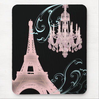 Paris Eiffel Tower Chandelier vintage wedding Mouse Pad