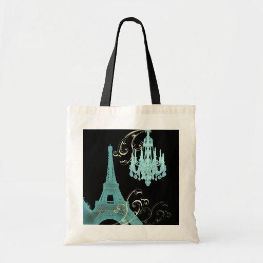 Paris Eiffel Tower Chandelier vintage wedding Tote Bag