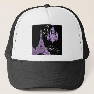 Paris Eiffel Tower Chandelier vintage wedding Trucker Hat