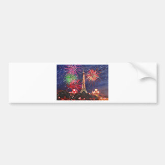 Paris Eiffel Tower City of Love with Silvester New Bumper Sticker