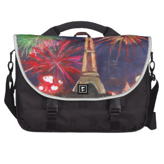 Paris Eiffel Tower City of Love with Silvester New Laptop Commuter Bag