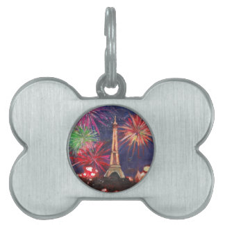 Paris Eiffel Tower City of Love with Silvester New Pet ID Tags