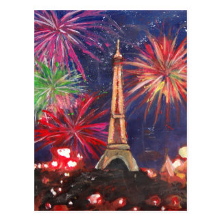 Paris Eiffel Tower City of Love with Silvester New Postcard