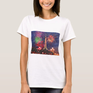Paris Eiffel Tower City of Love with Silvester New T-Shirt