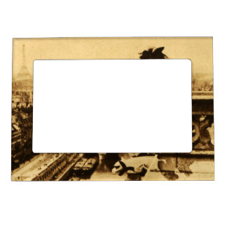 Paris Eiffel Tower Cityscape Aerial View French Magnetic Picture Frame