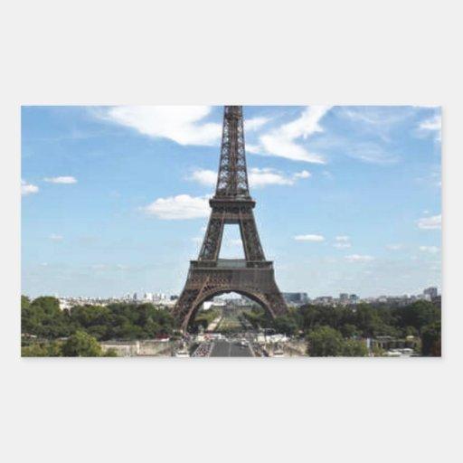 Paris Eiffel Tower - Classic Rectangular Stickers