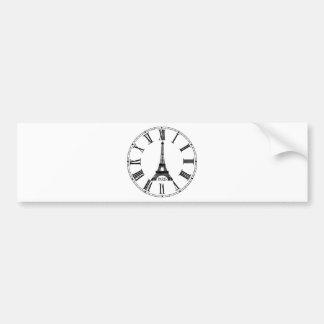 Paris Eiffel Tower Clock French Bumper Sticker