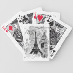 Paris Eiffel Tower Collage Deck Of Cards