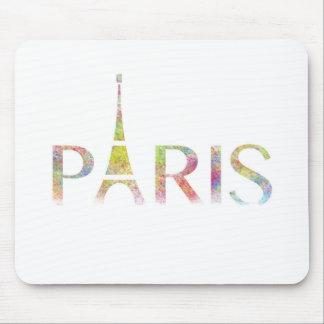 Paris Eiffel Tower Colour Splash Mouse Pad