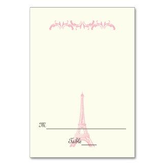 Paris Eiffel Tower destination wedding escort card