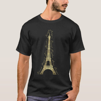 Paris Eiffel Tower Dream Bigger Inspirational T-Shirt