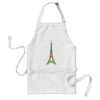 Paris Eiffel tower elegant pop stylish silhouette Adult Apron
