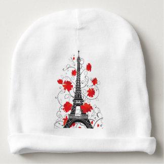 Paris Eiffel tower elegant stylish silhouette Baby Beanie