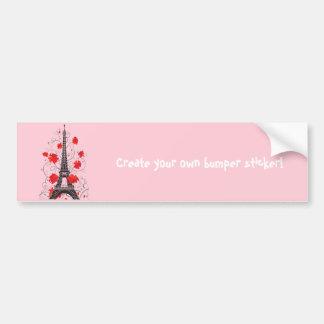 Paris Eiffel tower elegant stylish silhouette Bumper Sticker